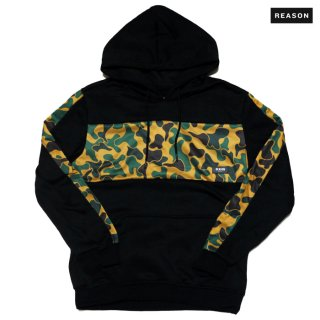REASON CLOTHING CAMO HOODIE【BLACK】