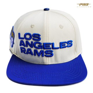 PRO STANDARD LOS ANGELES RAMS STRAPBACK CAP【NATURAL×BLUE】