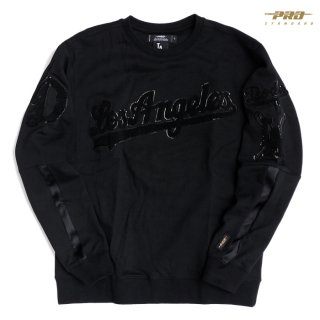 【送料無料】PRO STANDARD LOS ANGELES DODGERS CREWNECK SWEAT【BLACK】