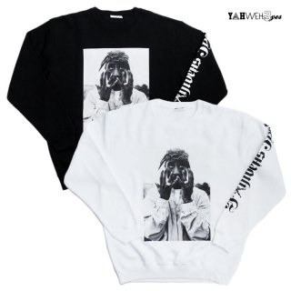 【送料無料】YAHWEHS EYES CREWNECK SWEAT【WHITE/BLACK】