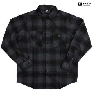 YAGO FLANNEL SHIRTS【GRAY×BLACK】