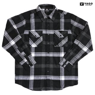 YAGO FLANNEL SHIRTS【BLACK×WHITE】