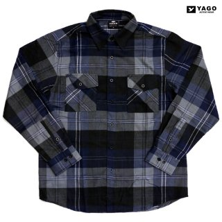 YAGO FLANNEL SHIRTS【NAVY×GRAY】
