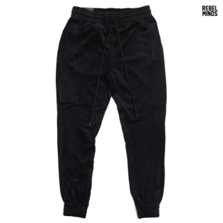 REBEL MINDS VELOUR PANTS【BLACK】