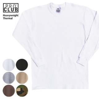 PRO CLUB THERMAL LONG SLEEVE シャツ HEAVY WEIGHT 8.1oz ヘビーウェイト
