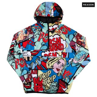 【送料無料】REASON CLOTHING MONEY CALLS ANORAK JACKET【MULTI COLOR】