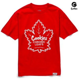 【メール便対応】COOKIES SF CHRONIC LEAFS Tシャツ【RED】
