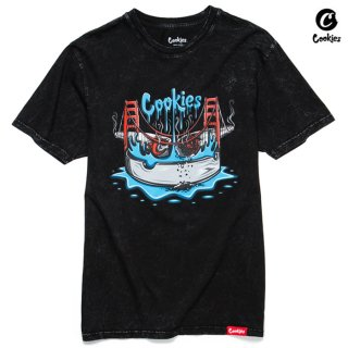 【メール便対応】COOKIES SF DOUBLE JOINTED Tシャツ【WASH BLACK】