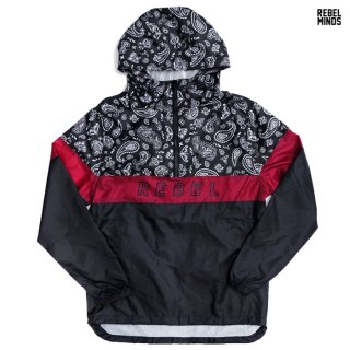 REBEL MINDS WINDBREAKER JACKET【BLACK】