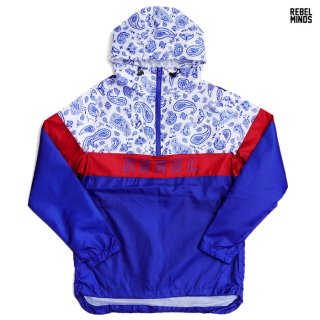 REBEL MINDS WINDBREAKER JACKET【ROYAL BLUE】