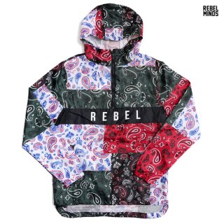 REBEL MINDS WINDBREAKER JACKET【MULTI COLOR】