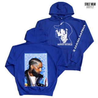 STREETWEAR SUPPLY NH BANDANA HOODED SWEAT【ROYAL BLUE】
