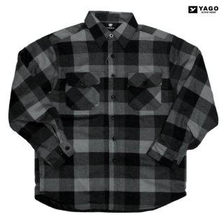 <img class='new_mark_img1' src='https://img.shop-pro.jp/img/new/icons59.gif' style='border:none;display:inline;margin:0px;padding:0px;width:auto;' />YAGO FLANNEL QUILTING JACKET【GRAY×BLACK】