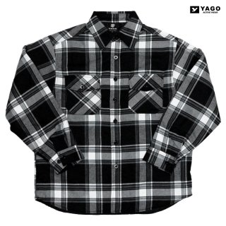 YAGO FLANNEL QUILTING JACKET【BLACK×WHITE】