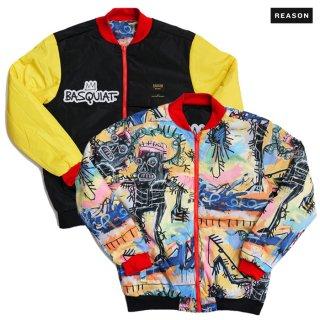 送料無料】REASON CLOTHING × BASQUIAT REVERSIBLE JACKET【MULTI COLOR】