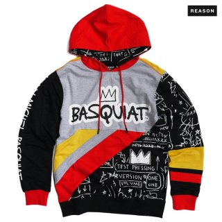 【送料無料】REASON CLOTHING × BASQUIAT TEAM HOODIE【MULTI COLOR】