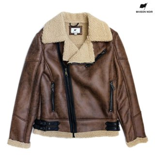 【送料無料】MAISON NOIR HAILEY JACKET【BROWN】
