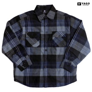 <img class='new_mark_img1' src='https://img.shop-pro.jp/img/new/icons59.gif' style='border:none;display:inline;margin:0px;padding:0px;width:auto;' />YAGO FLANNEL QUILTING JACKET【NAVY×GRAY】