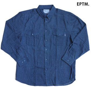 EPTM SIDE ZIP DENIM SHIRTS【VINTAGE BLUE】