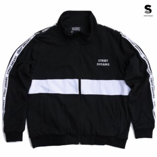 【送料無料】STREET DREAMS REPEAT TAPE ZIPUP JACKET【BLACK】