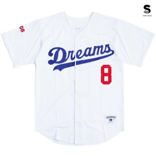 【メール便対応】STREET DREAMS MAJOR LEAGUE JERSEY【WHITE】