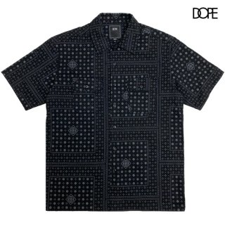 【メール便対応】DOPE BLOOD SWEAT & TEARS WORK SHIRTS【BLACK】