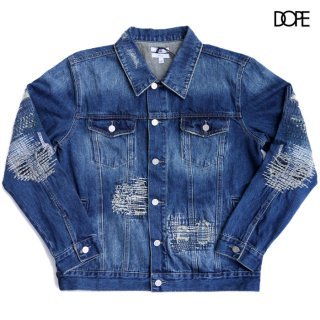 【送料無料】DOPE BORO DENIM JACKET【WASH BLUE】
