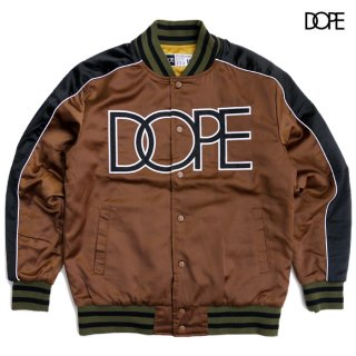 【送料無料】DOPE SIDELINE REVERSIBLE SATIN BOMBER JACKET【BROWN】