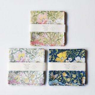 オーガニックコットン Drawing -Handkerchief- モダンフラワー