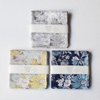 オーガニックコットン Drawing -Handkerchief- ドレッシーフラワー