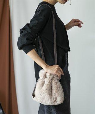 エコファー巾着型ショルダーバッグ