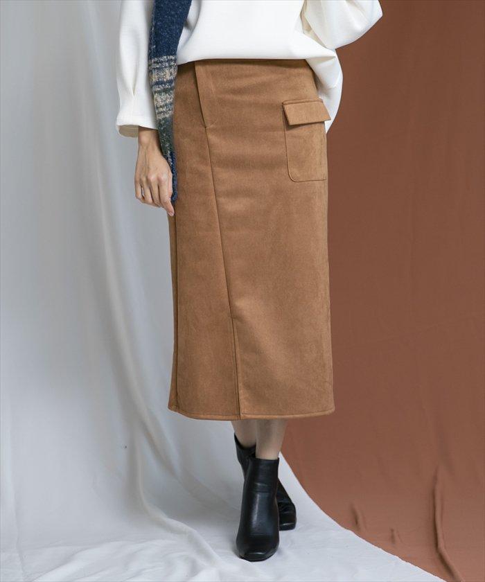 フロントポケットデザインタイトスカート