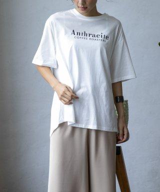 【Anthracite】バックスリットロゴTシャツ