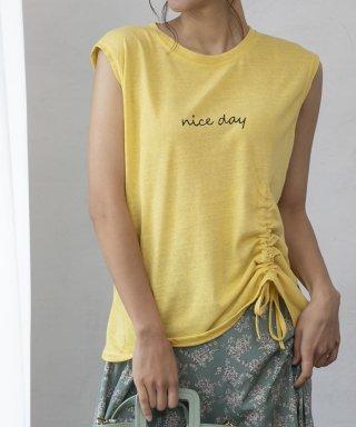 【nice day】ドロストフレンチスリーブTシャツ