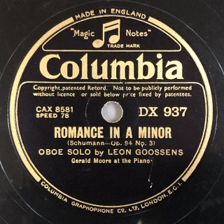 レオン・グーセンス(ob):3つのロマンス イ短調より第3番 op.94-3(シューマン)/PIECE(フランク)