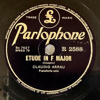 クラウディオ・アラウ(p):練習曲第8番へ長調op.10-8/タランテラ変イ長調op.43(ショパン)