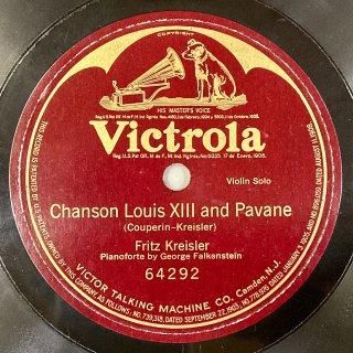 フリッツ・クライスラー(vn):クープランの様式によるルイ13世の歌とパヴァーヌ(クライスラー)