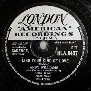 アンディ・ウィリアムス:I LIKE YOUR KIND OF LOVE