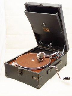 ポータブル蓄音機 HMV101(黒)