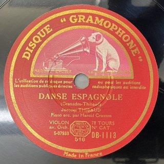 ジャック・ティボー(Vn):スペイン舞曲集より「アンダルーサop.37-5」「ロンダーリャ・アラゴネーサop.37-6」(グラナドス)