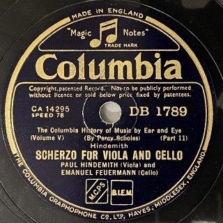 パウル・ヒンデミット(Viola):ヴィオラとチェロの為のスケルツォ(ヒンデミット)