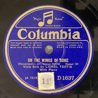 ライオネル・ターティス(Viola):歌の翼にop.34-2(メンデルスゾーン)/「愛の歌」(ブラームス)