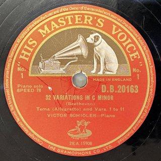 ヴィクトー・ショアラー(P): 創作主題による32の変奏曲ハ短調(ベートーヴェン)
