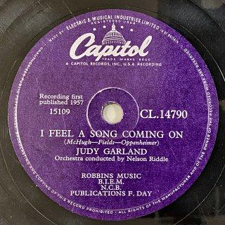 ジュディ・ガーランド(vo): I FEEL A SONG COMING ON / JUST IMAGINE