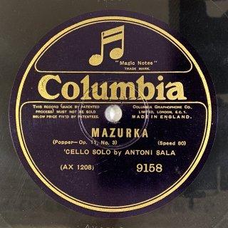 アントニー・サラ(vc): マズルカop.11-3(ポッパー)/ 夜想曲第2番変ホ長調op.9-2(ショパン)