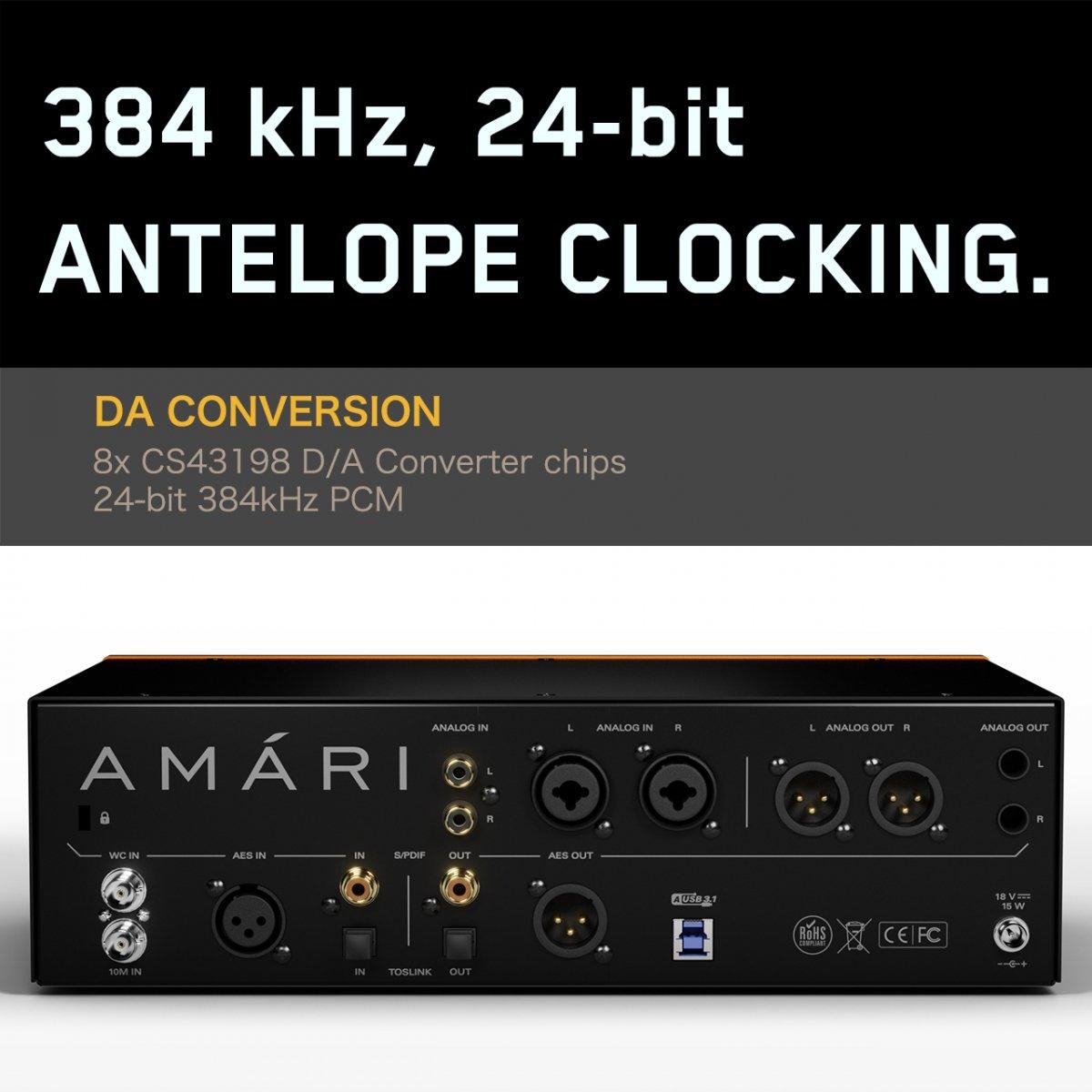 【エネルギッシュ&ハイレゾリューション 翌日発送可】Antelope Audio AMARI 高性能DAC ヘッドフォン アンプ アンテロープ オーディオ