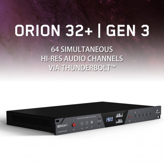 Orion32+ | Gen 3(Thunderbolt(TM) & USB Interface)