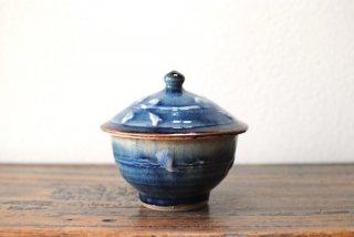 【森山窯】蓋物 いっちん 瑠璃釉