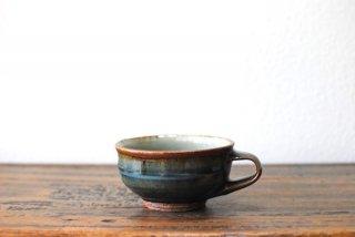 【森山窯】片手スープカップ いっちん 呉須釉