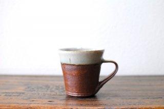 【森山窯】マグカップ(切立) 白覆輪
